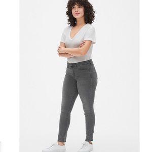 Gap Soft Wear Grey Mid-Rise True Skinny Jeans